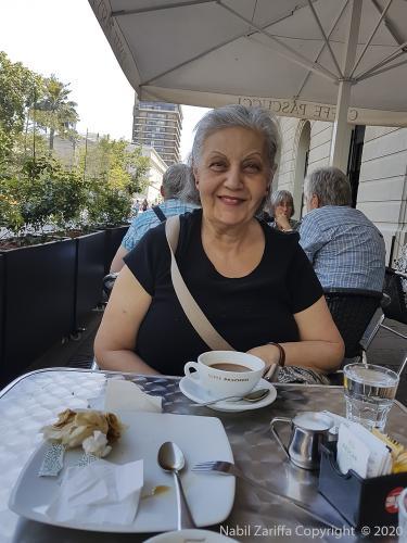 20200216 Café à la Plza des Armas, Santiago